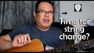 Guitar Tip:  When Is It Time To Change Strings