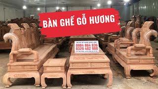 Bàn Ghế Tần Thủy Hoàng + Minh Quốc Voi Gỗ Hương Đá ( Báo Giá)
