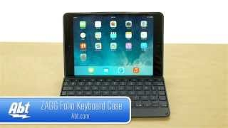 Zagg Folio Keyboard Case Cover For IPad Mini ZKMHFBKLIT103 And ZKMHFWHLIT103 Overview