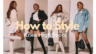 HOW TO STYLE KNEE HIGH BOOTS OUTFIT IDEAS