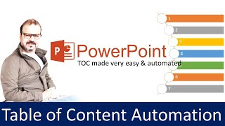 Powerpoint tutorial : Table of Content Automation