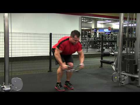 Bent Over Cable Crossover Rear Delt Fly