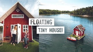 We Stayed on a TINY HOUSE BOAT! - Sweden's Most Unique Airbnb (Stockholm, Sweden)
