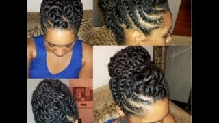 Natural Hair Flat-twist Updo Protective Hairstyle