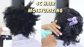 Extreme Deep Conditioning And Moisture On 4C Natural Hair