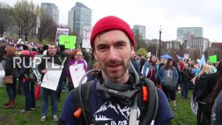 USA: Thousands of Bostonians march for science on Earth Day