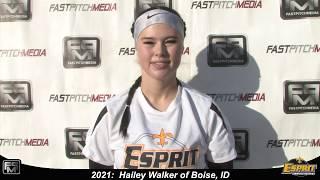 2021 Hailey Walker Third Base Softball Skills Video - Esprit Fastpitch