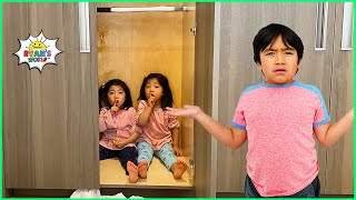 Hide and Seek Pretend Play around the House with Ryan's World