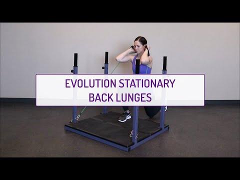 Evolution Stationary Back Lunges