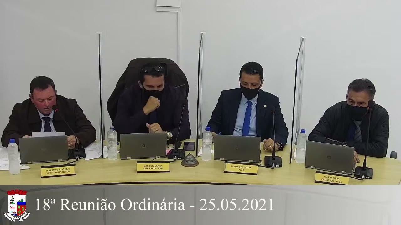 18ª Reunião Ordinária - 25/05/2021