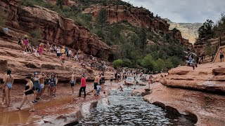 Slide Rock, Sedona, Arizona. 4K