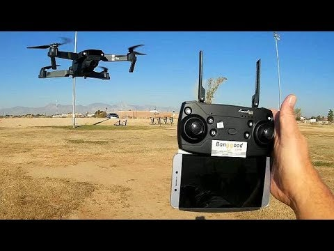 Eachine E58 720P Folding FPV Camera Drone Flight Test Review