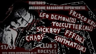 Fightroom: Toecutter Full Breakcore DJ Set (Club 9, Koersel, Belgium)