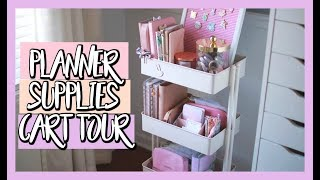 HOW I ORGANIZE AND STORE MY PLANNER SUPPLES & STICKERS | IKEA RASKOG CART TOUR