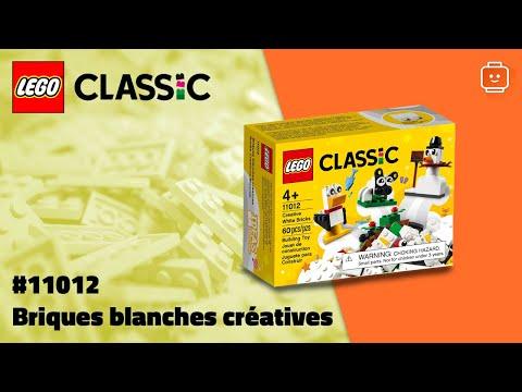 Vidéo LEGO Classic 11012 : Briques blanches créatives