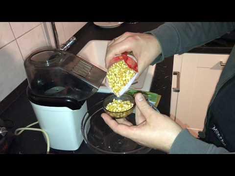 Popcornmaker classic: süßes Popcorn mit Heißluft Popcorn Maschine zubereiten Zucker Rezept