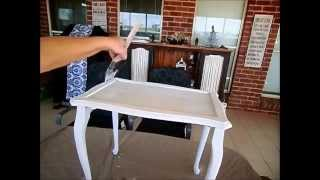 Chalk Paint DIY Side Table Tutorial