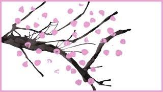 Peindre un cerisier japonais