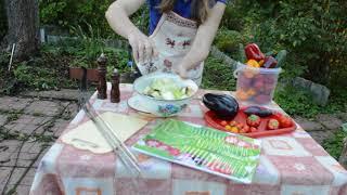 Овощной шашлык рецепт: пальчики оближешь