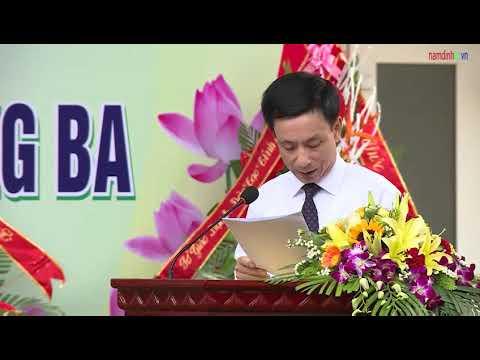 Khai giảng năm học mới và đón Huân chương Lao động hạng Ba   tại trường THCS Đào Sư Tích, huyện Trực Ninh