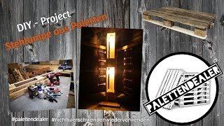 Stehlampe aus Palettenholz  | Floor Lamp | Diyproject #palettendealer #diyproject