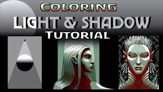 Coloring: Light & Shadow Tutorial -  Making 2D Look 3D