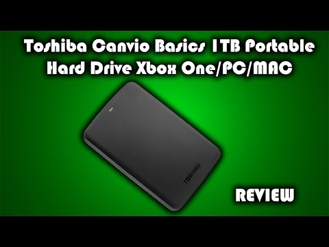 Toshiba Canvio Basics USB 3.0 1TB Portable Hard Drive Xbox One/PS4/PC/MAC Review