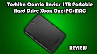Toshiba Canvio Basics USB 3.0 1TB Portable Hard Drive Xbox One/PS4/PC/MAC Review