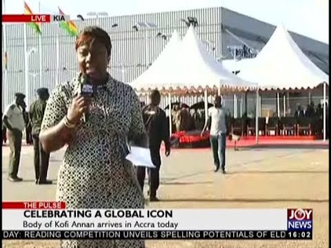 Body of Kofi Annan arrives in Accra today - The Pulse on JoyNews (10-9-18)