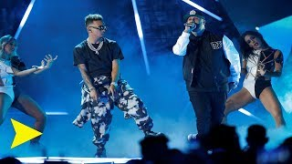 Nicky Jam ft Ozuna Te Robare EN VIVO Premios Billboard 2019