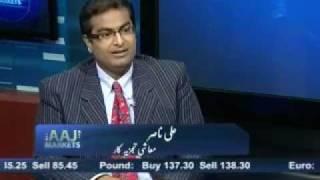 Ali Nasir On AAJ Television Markets As Guest With Alina Shigri