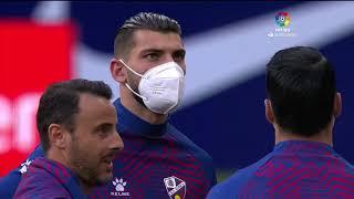 Calentamiento Atlético de Madrid vs SD Huesca