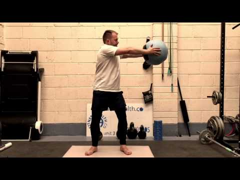 Standing Medicine Ball Torso Twist Exercise