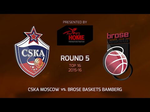 Highlights: Top 16, Round 5, CSKA Moscow 91-70 Brose Baskets Bamberg