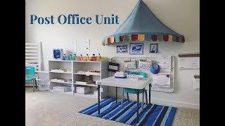 Home Preschool Post Office Pretend Play I Shelf Work Activity Trays I Community Helpers Unit