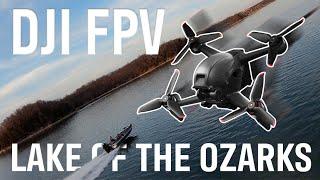 DJI FPV Flight Over Lake of the Ozarks   Sport Mode, Birds, & Bass Boats
