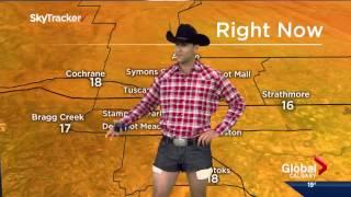 Jordan Witzel wears daisy dukes on Calgary Morning News - Video Youtube