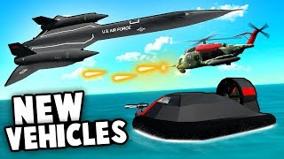AMAZING NEW VEHICLES! Stealth Hovercraft, Blackbird and Liberator Heli! (Ravenfield Best Mods)
