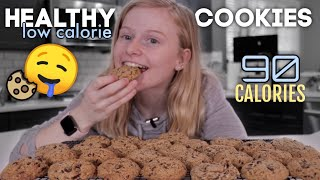 HEALTHY Low Calorie Chocolate Chip Cookies Recipe!