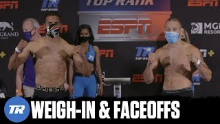 Verdejo vs Madera: Weigh-In & Faceoffs