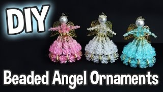 DIY Beaded Angel Ornaments For Christmas!  Easy Project For The Holidays!