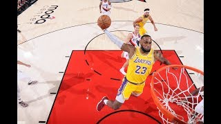 LeBron James and The Los Angeles Lakers Opening Night vs Portland Highlights: