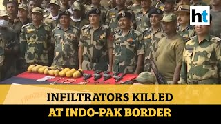 BSF shoots down 5 infiltrators at India-Pakistan border in Punjab, arms recovered - Download this Video in MP3, M4A, WEBM, MP4, 3GP