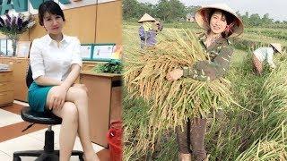 Tiết l,ộ danh tính Cô g,á,i gặt lúa xinh đẹp khiến dân mạng tìm kiếm - TIN TỨC 24H TV