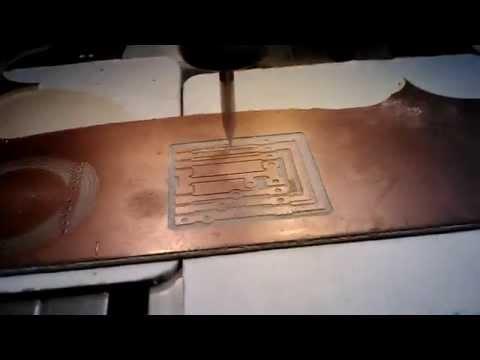 Фрезеровка печатной платы  на чпу. Обработка текстолита на станке с чпу.