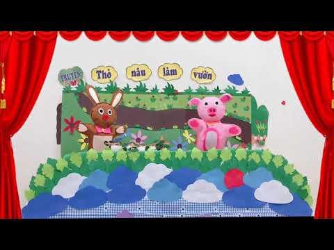 """PTNN: Truyện """"Thỏ Nâu làm vườn"""": Lứa tuổi 3-4 tuổi: Cô giáo Bế Thị Mai"""