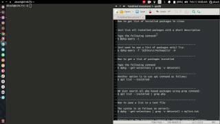How to get list of Installed packages in Linux(Ubuntu/Mint) and More..