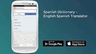 Spanish Dictionary - English Spanish Translator