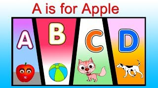 A is for Apple Nursery Rhyme Collection - ABC Song - Alphabets Song - Phonics Rhyme for Baby