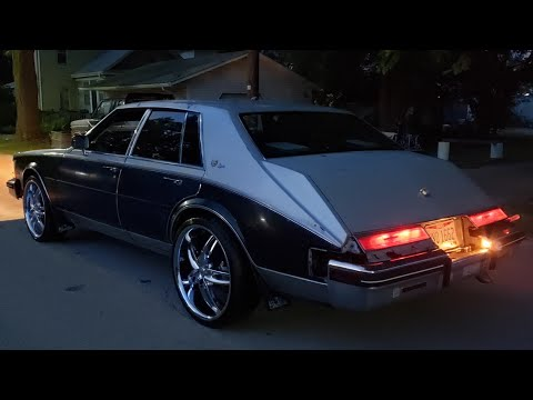 """WOW!!! 1984 Cadillac seville with elegante option flowmaster duals 22"""" rims hagerty value in descrip"""